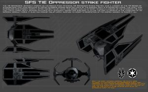 SFS TIE Oppressor strike fighter ortho [New] by unusualsuspex