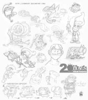 Nicktoons Take a Sketch Dump 1 by Coonfoot