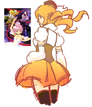 Mami redraw by skeletonparties