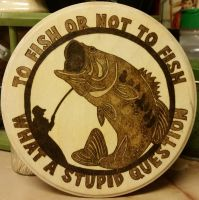 Woodburning - To Fish or Not to Fish - Sold! by Stepher17