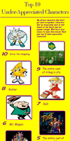My Top 10 Most Under-rated Characters by FelixFan9000