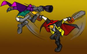 Darkwing and Negaduck scene by DarkPenguin