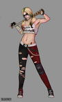 Harley Quinn post-apocalyptic  concept by OrangeFreeman