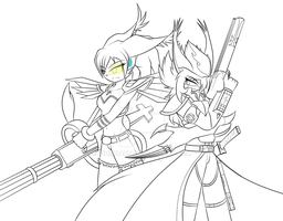 Neige and Hichiro (demond hunter(? - incomplete ) by HichiroDNdarkurian