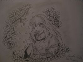 InuYasha in flowers for kagome by nami94