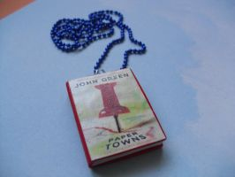 Paper Towns book necklace by InsaneJellyBean95