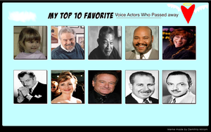 My Top 10 Voice Actors Who Passed Away Meme by Kitty-McGeeky97