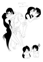 Marceline-Marshall lee Lovesheet commission by Destinyfall