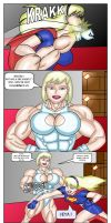 Galatea vs Supergirl p3 by LordKelvin