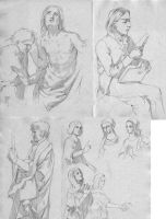 A buncha pencil sketches by KristinaGehrmann