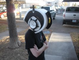 GLaDos costume head complete by Seras-Loves-Master