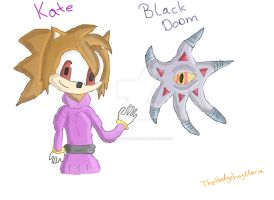 Kate and Black Doom by TheHedgehogMaria