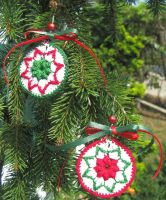 Crochet Christmas ornaments by doilydeas
