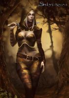 Silvernai: Ivne in forest - detail by telthona