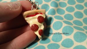 Pizza Necklace by BeppasCreations