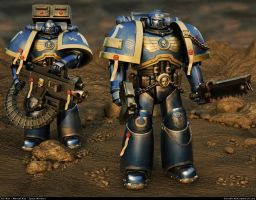 Space Marine airbrush by Noble200502