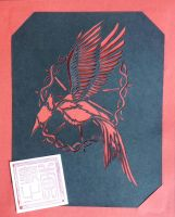 Catching Fire mocking jay logo by Anderuu