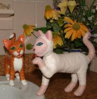 2 Sculpted Kitty Cats 1B by Soniafm1027