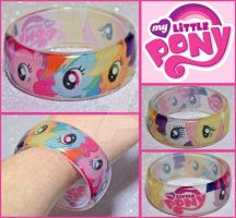 My Little Pony Resin Bangle by bapity88