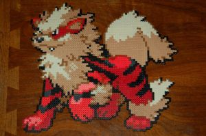 Arcanine, Perler Beads by DarkTangrowth