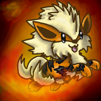 Chibi - Arcanine Comission by MotherGarchomp622