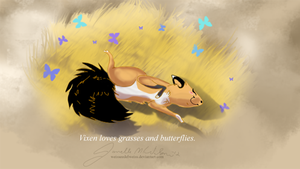 Cross Vixen Loves The Butterflies and the Grasses by WeisseEdelweiss