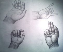 Hand sketches by Strabius