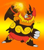Pissed Off Emboar by Cartoon-Eric