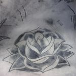 Tattoo Practice: Rose by Punch-line-designs