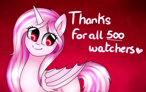 500 Watchers !! by TheCreativeRey