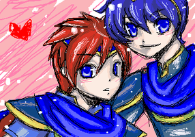 Marth x Roy by Art-on-a-Stick