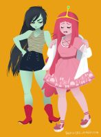 Marceline and Princess Bubblegum by sockie