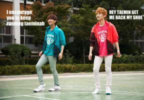 SHINee Macro:.Missing Shoe?.: by xrinnn