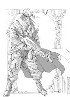 Grifter Sketch by johnnymorbius