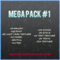 Mega Pack #1 by HunterCas