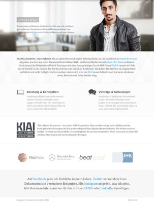 Homepage of Umut Deniz by FleX177