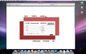Brique website - Contact page by Lienna28