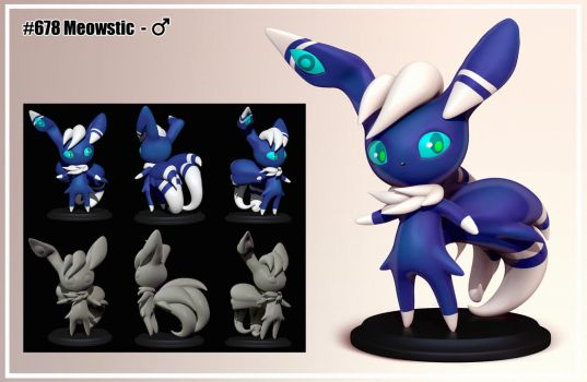 Meowstic M figure by R-no71