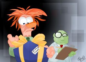 Beaker and Bunsen by WonderDookie