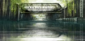Bridge over ditch speedpaint by Ben-Andrews