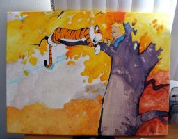Calvin and Hobbes by MyRobotBee