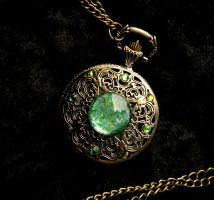 Betwixt Peridot Opal Pocket Watch - Dream Drop2 by LadyPirotessa