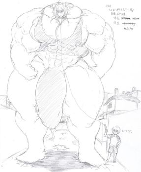 giant muscle dog boy by me-go