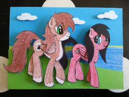 MLP Card - Walk by the lake. by FunkyBacon