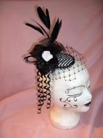 Fascinator in b and w 3 by nashimiron