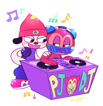 Parappa and PJ by TigerCubMia