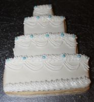 Wedding Cake Sugar Cookie by picworth1000wrds