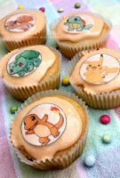 Pokemon Cupcakes by claremanson