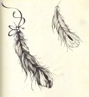 feather tats by Seearah