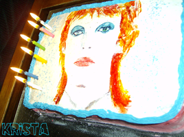 Bowie Cake '07 by afiendishglee